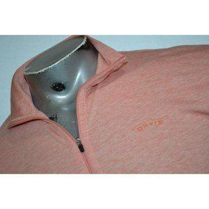 11999 Mens Orvis Shirt Fishing Trout Bum 1/2 Zip